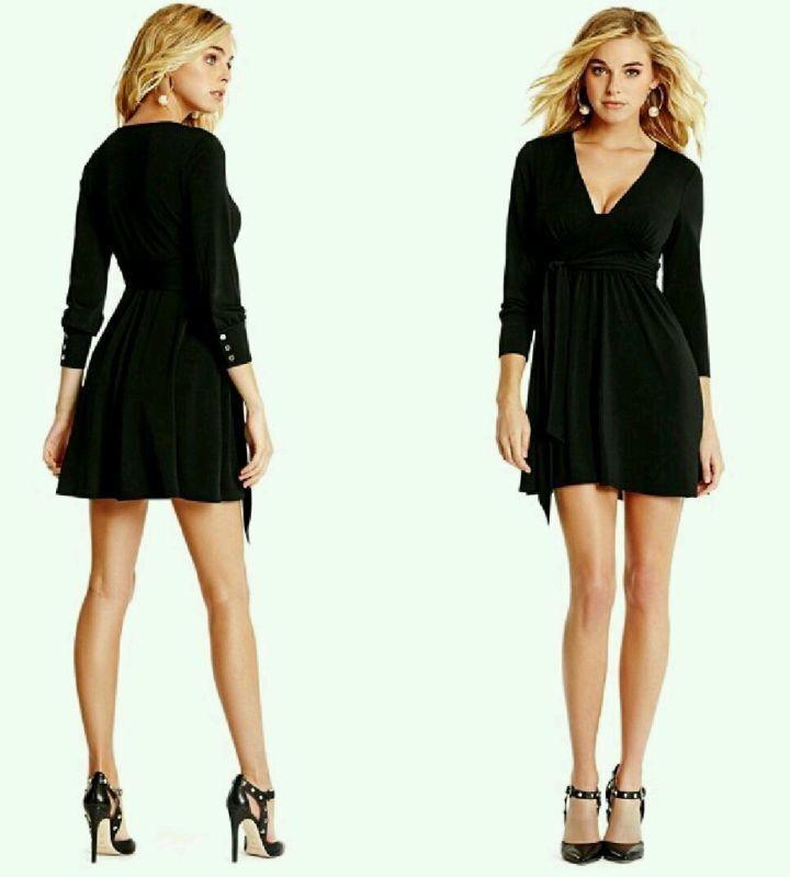 Marciano by Guess schwarz Long Sleeves Mini Dress Größe M