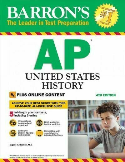 Barron's AP United States History, 4th Edition : With Bonus