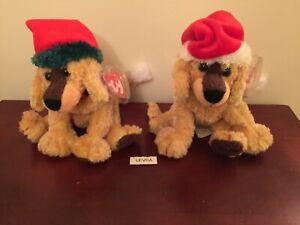2 lot different JINGLEPUP USA green hat trim & Canada white trim Ty BEANIE BABY