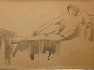 Marcel-Lenoir-1872-1931-Donna-Nuda-Color-Carne-Erotico-Simbolismo-Fauvisme