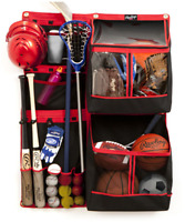 Sports Equipment Organizer Sport Gear Storage Bedroom Garage Kids Room Wall Hang