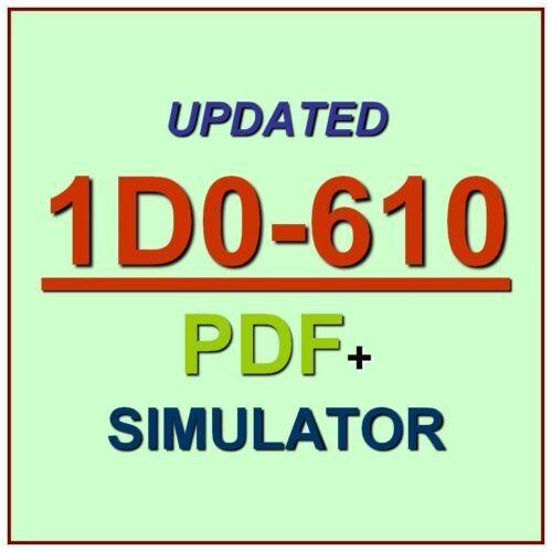 CIW Web Foundations Associate Test 1D0-610 Exam QA PDF+Simulator