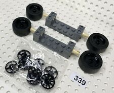 Wheel Trims 65635 4x LEGO White Wheels Tyre With 2x6 Axles Speed Champions