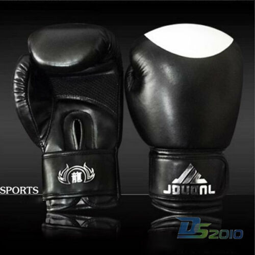 Thai Muay kick Boxing Gloves Sparring Training Mitten MMA//UFC Mitts Red//BLK 10oz