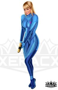 Details About 11 X 17 Metroid Samus Aran Zero Suit Sara Underwood Pinup By Xeracx