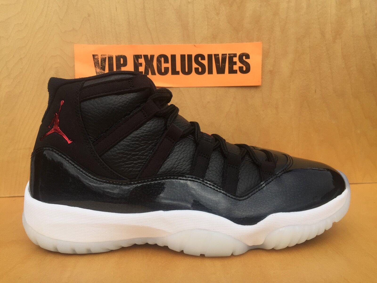 Nike air jordan 11 retrò xi 72-10 72 10 nero, bianco, rosso 378037-002 antracite