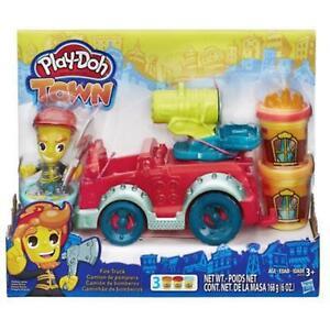 Il-Camion-dei-Pompieri-Play-Doh-Town-Hasbro-B3416-Pasta-da-modellare
