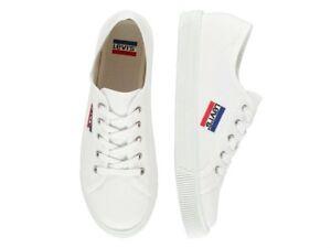 Sportswear Uomo Levis Scarpe Bianco Tessuto White Brilliant Malibu Sneakers 1wxzP