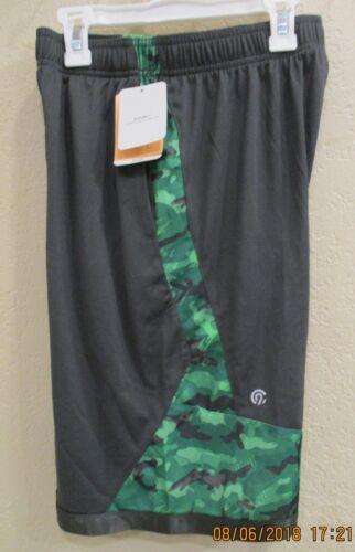 Champion C9 Boys printed Training Shorts Charcoal//Green elastic drawstring