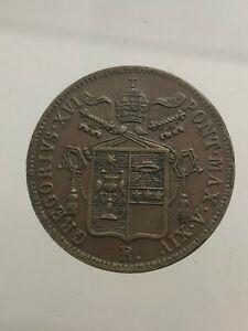Etats Papaux. Gregorio XVI Baiocco 1844 Bologne Année XIV