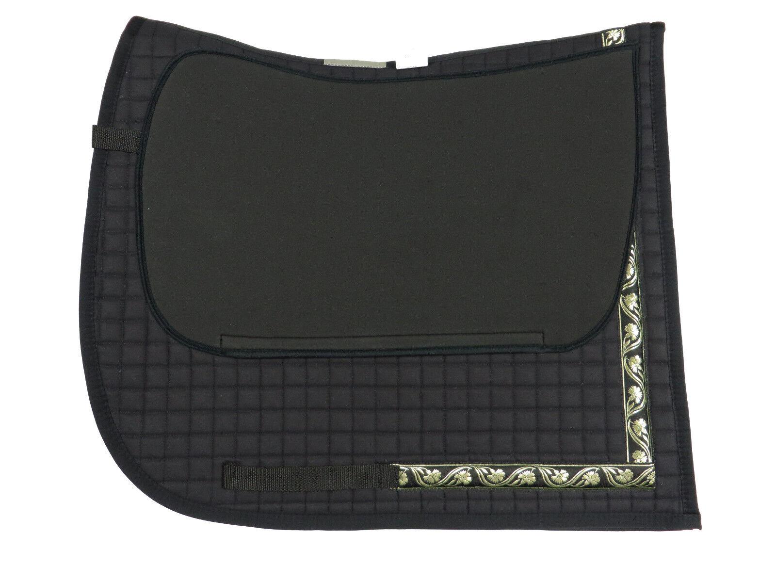 Barroco decrépita en negro con bonito cenefa y polsterbaren bolsillos