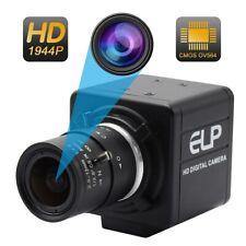 HD 5MP Mini Cámara 2.8-12mm Lente Varifocal Video para Win10