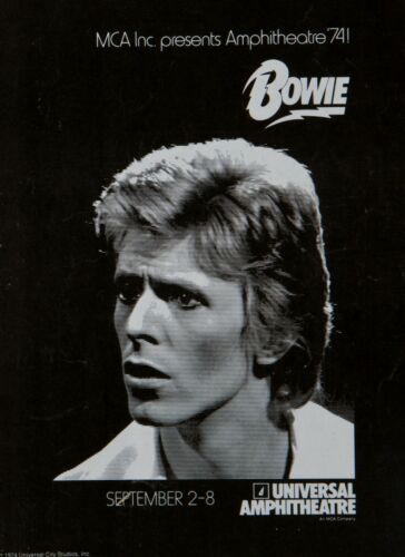 """David Bowie universal amphitheatre 16/"""" x 12/"""" Photo Repro Concert Poster"""