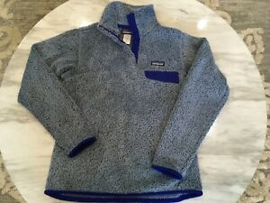 Patagonia-Women-s-Retool-snap-T-fleece-pullover-small-purple-gray