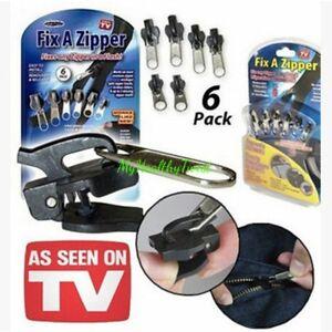 Image is loading 6-Pack-Set-TV-Fix-A-Zipper-Zip-  sc 1 st  eBay & 6 Pack Set TV Fix A Zipper Zip Slider Rescue Instant Repair ...