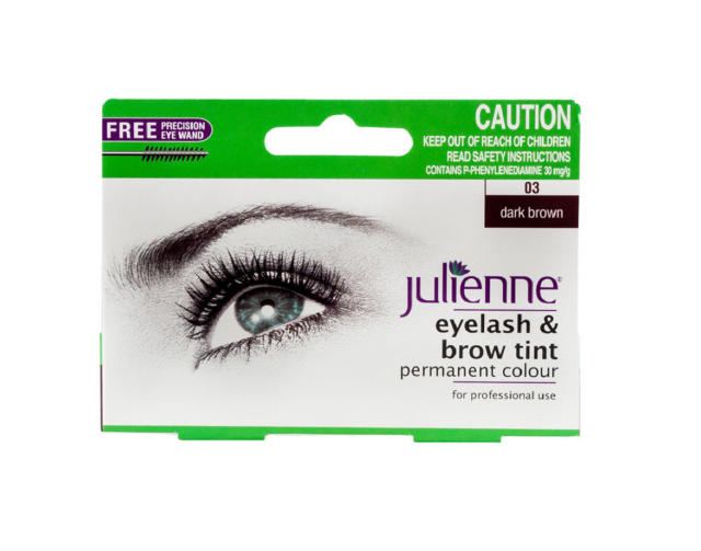 Julienne Eyelash And Eyebrow Permanent Dark Brown 03 Colour Tint