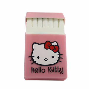 Hello-Kitty-Silicone-Cigarette-Pocket-Case-Box-Holder-Tobacco-20-Pink