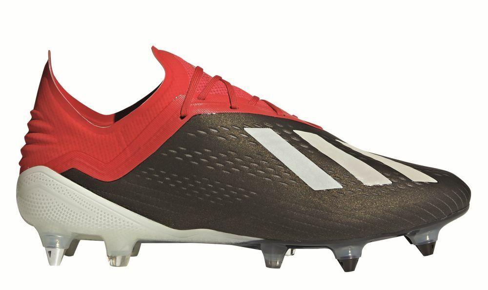 Adidas Fútbol X 18.1 terreno blando para Hombre Botines botas Negro blancoo Rojo