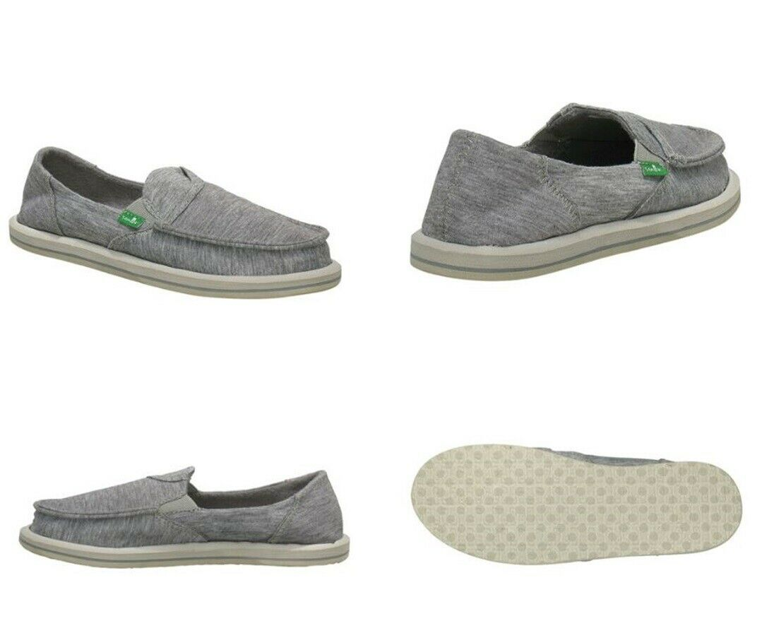 Sanuk Pick Pocket Fleece Sidewalk Surfer shoes Light Grey Women's Size 9 US