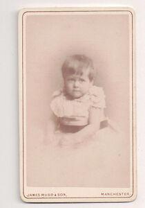 Vintage-CDV-Unknown-Infant-1880-James-Mudd-amp-sons-Photo-manchester-England