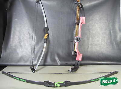 3 COMPOUND  LOT BOW AND ARROW BEAR BRAVE PINK  BARNET LIL'SIOUX HOT SHOT BCX