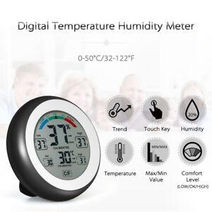 Digital Hygrometer Thermometer Humidity Meter Indoor Temperature LCD Display