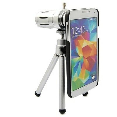 12X Optical Zoom Lens Telescope Camera + Tripod Case For Samsung Galaxy S5 i9600