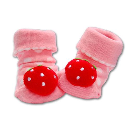 New Newborn Baby Girls Boys Animal Anti-Slip Slipper Socks