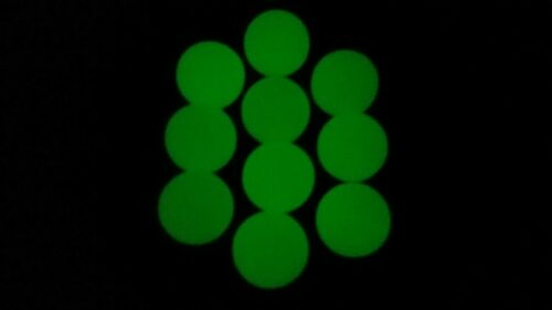 . 68 Cal. UltraViolet Glow in the Dark Hard Rubber Paintball Target Balls