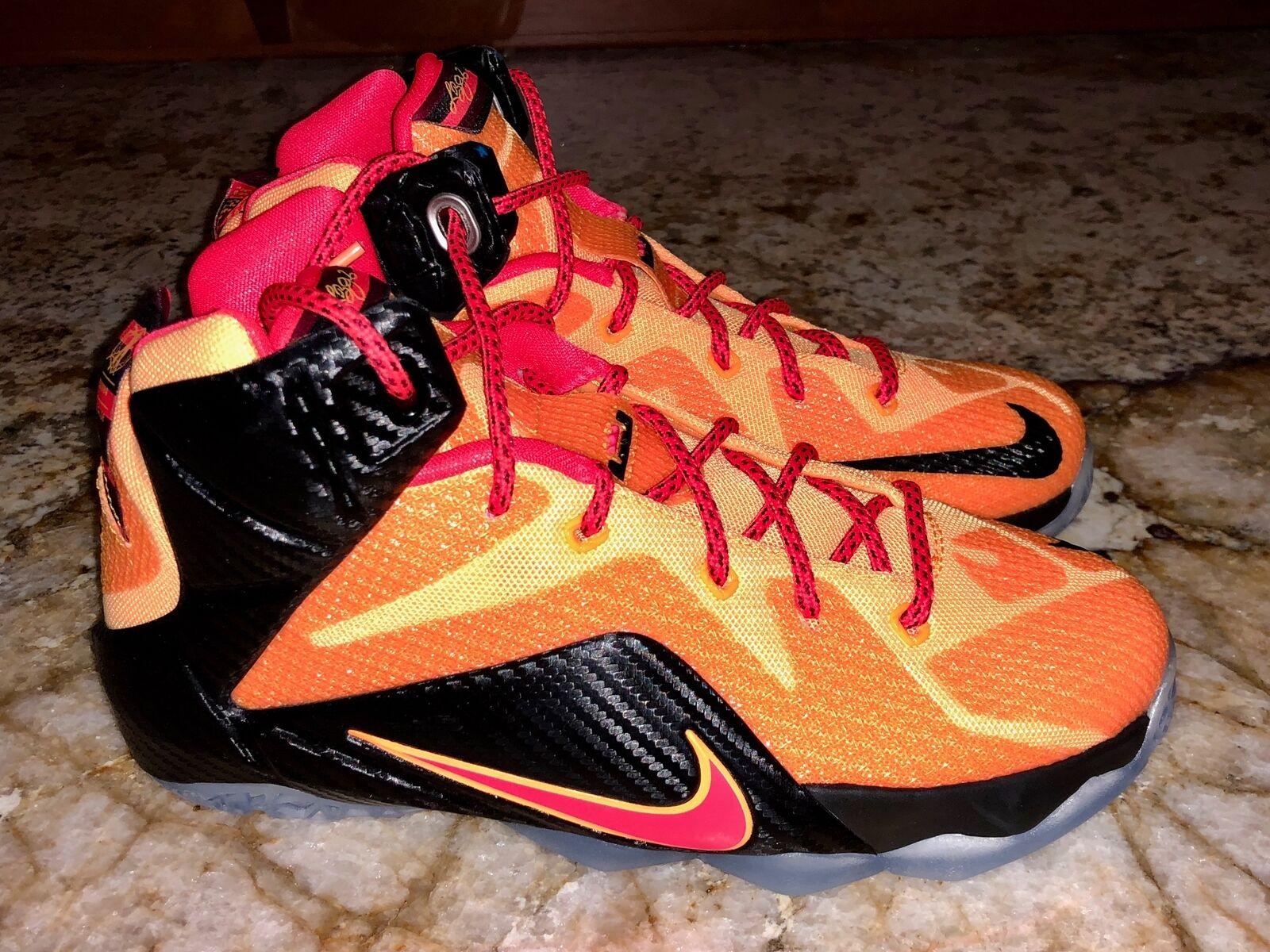 NIKE LeBron XII 12 Laser Orange Black