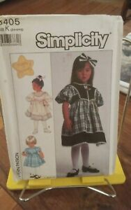 Oop-Simplicity-Made-in-Heaven-8405-girls-dress-lined-vest-sz-3-5-NEW