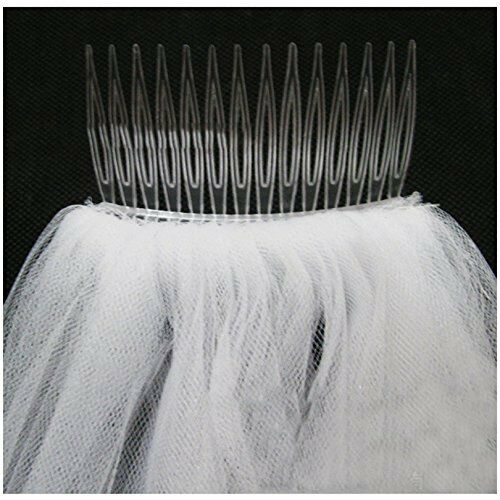 1 Layer White//ivory Bridal Cathedral Lace Edge Bridal Wedding Veil With Comb