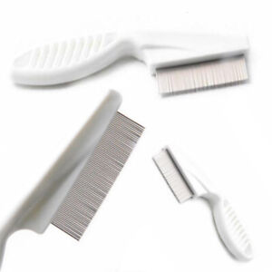 Metal-Nit-Head-Hair-Lice-Comb-Fine-Toothed-Flea-Flee-with-Handle-Kids-Cat-Dog