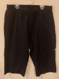 lululemon men's black airing easy crop yoga pants shorts