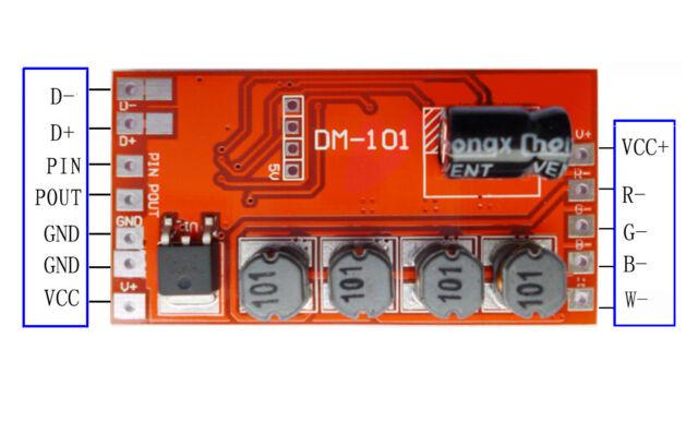 600mA 72W 4 Channel DMX512 Decoder Board LED DJ RGB Stage Lighting Driver Module
