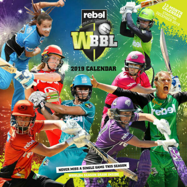 WBBL WOMENS BIG BASH LEAGUE BBL 2019 Wall Calendar Paper