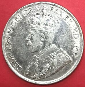 1936-CANADA-SILVER-DOLLARS-80-SILVER-COIN-KING-GEORGE-V-84-yrs-old