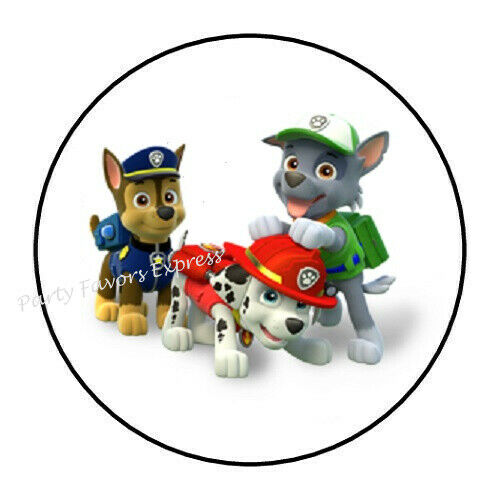 """30 PAW PATROL ENVELOPE SEALS LABELS STICKERS PARTY FAVORS 1.5/"""" ROUND"""