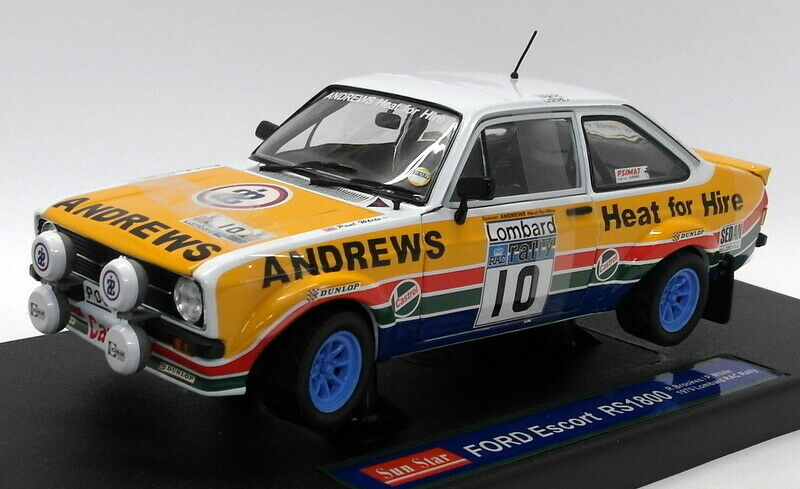 Sunstar 1 18 Scale Diecast - 4443 Ford Escort RS1800 1979 Lombard RAC Rally