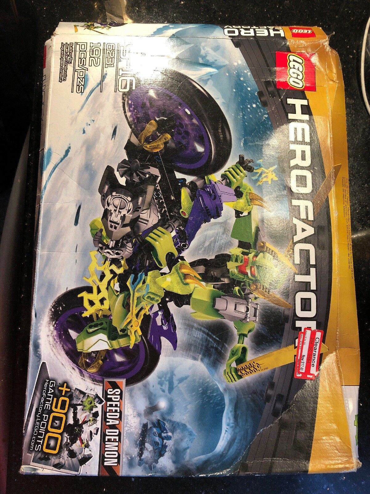 LEGO Hero Factory Speeda Demon 6231 New  Dented Box