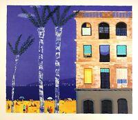 Alan Furneaux barcelona Beach Ocean Signed Limited Ed Size:73cm X 80cm
