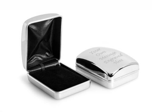 Pendant Case Box ENGRAVED FREE Personalised Chrome Necklace