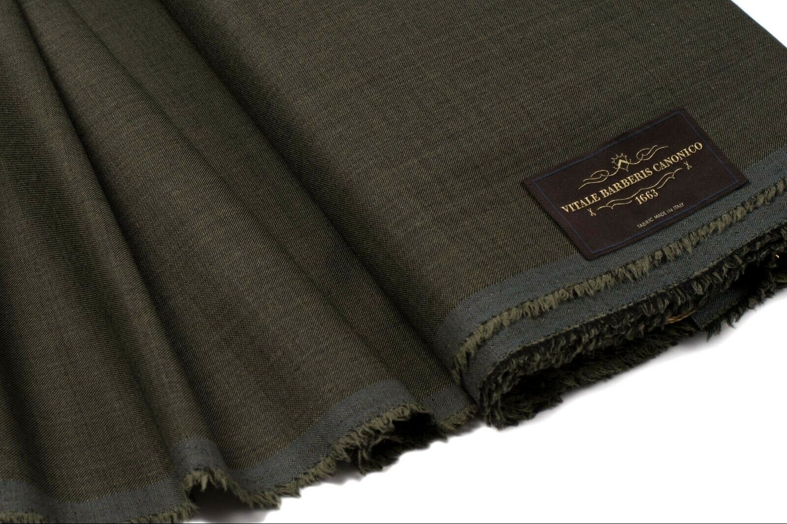 VITALE BARBERIS CANONICO SUPER 130's WOOL Suiting Fabric  ITALY 3.25 length