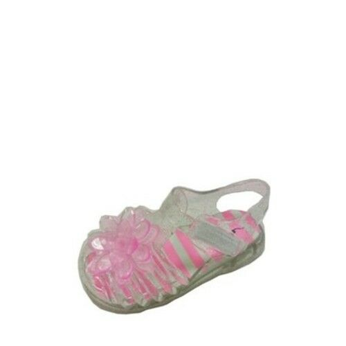 a147ce00476f Wonder Nation Toddler Girls Clear Jelly Sandals W Flower Size 11 for sale  online