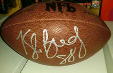 Kyle Brady authentic auto signed wilson football Patriots Jets Penn State Jaguar