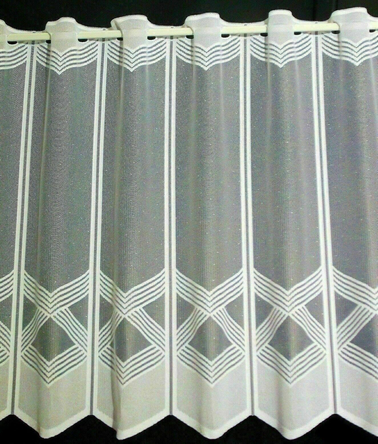 Scheibengardine Vorhang Häkel LANDHAUS SHABBY 34105 weiß  div Größen HANDARBEIT