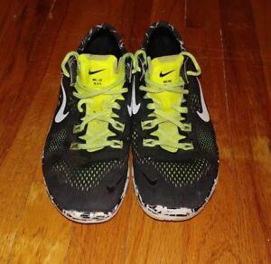 sale retailer 6f5af 70057 Nike Free TR Fit 4 Women's Black Lime Green Running Shoe Sz ...