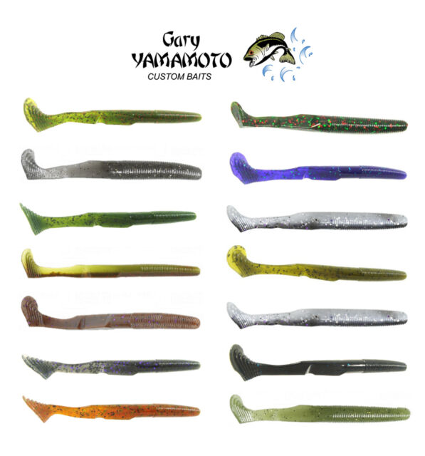 Gary Yamamoto Swim Senko 297 Green Pumpkin Black Flake 5in 10pk for sale online