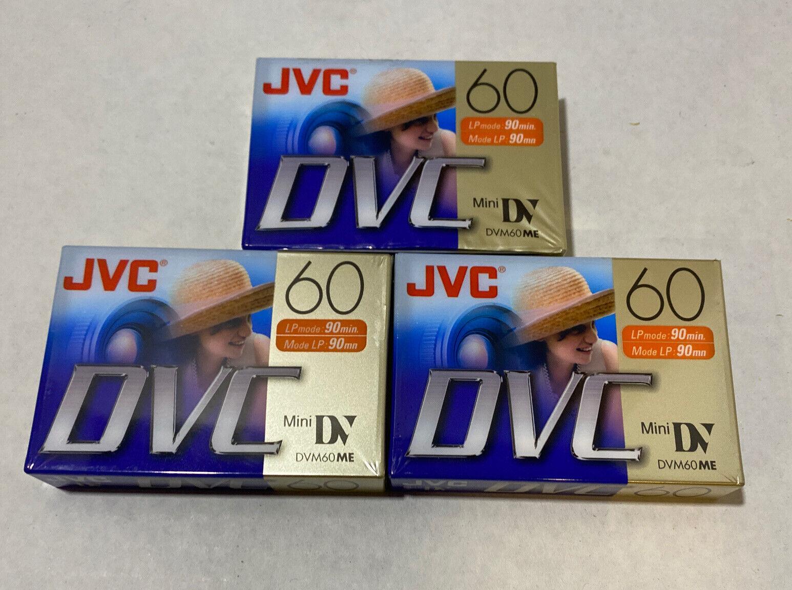 JVC DVC Mini-DV 60 3 Packs of Blank Tapes Digital Video Cassettes New Sealed
