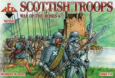 Humoristisch Red Box - Scottish Troops War Of The Roses 4 - 1:72